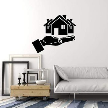 Vinyl Wall Decal Real Estate Agency Property Broker Agent Decor Art Stickers Mural (ig5623)