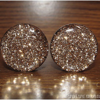 Gold Glitter Plugs - 2g, 6mm