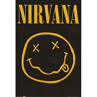 Nirvana Smiley Face Poster 24x36