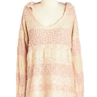 ModCloth Pastel Mid-length Long Sleeve Blast From the Pastel Sweater