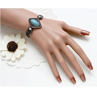 Fashion new Bohemian turquoise multi-layer woven bracelet bracelet