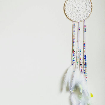 Dream Catcher, DreamCatcher, Bohemian, Decor, Boho Decor, Lilac Purple Dream Catcher, Feathers, Home Decor, Handmade, Native, Unique Gift