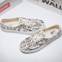 VANS X COMME des GARCONS Canvas Old Skool Flats Sneakers Sport Shoes