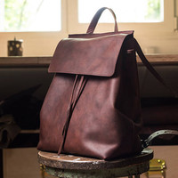 Women Leather Backpack, Women Leather Brown Backpack