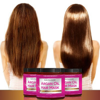 Argan Oil Hair Mask, 8 oz. Hair Treatment Therapy, Deep Conditioner for Damaged & Dry Hair
