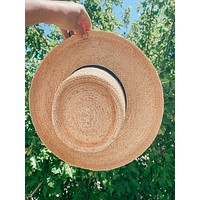 Annalise Straw Boater Hat