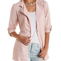 Belted Lightweight Trench Coat by Charlotte Russe