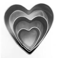 Mini Inox Heart Cutters 3 Pack