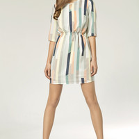 Dress With Full Color Stripes