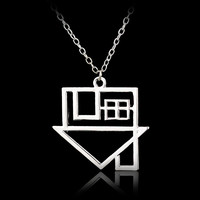 10PCS Lot Fashion Silver Plated Rock Band The Neighborhood Rock Music NBHD Logo Pendant Necklace Top Grade Quality
