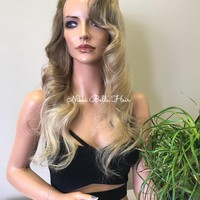 Blonde Natural REMY Human Hair FULL LACE Wig - River  81731 ON SALE