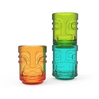 Tiki TrioTM Shot Glasses in Assorted Colors by TrueZoo