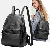 100% Genuine leather Women Backpack Designer Female Backpacks Students School Bags Fashion Genuine Leather Travel Backpack