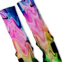 Liquid Rainbow Customized Nike Elite Socks!!