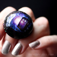 Time Travelling Galaxy Ring Sci Fi Inspired Jewelry by isewcute