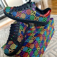 Gucci gg psychedelic ace low-top sports running shoes