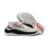 Adidas Lillard Dame 4 White/Black Basketball Shoes