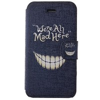 [USD $ 4.99] - Cartoon Crazy Teeth Pattern PU Full Body Case with Card Slot for iPhone 4/4S