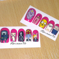 UV Gel Hand painted Adventure Time false nail set
