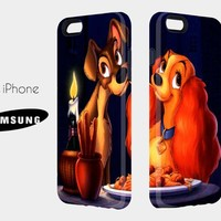 Cauple 3D Case Lady And The Tramp - for iphone and samsung