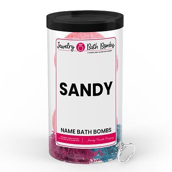 SANDY Name Jewelry Bath Bomb Tube