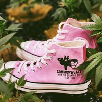"""PLEASURES & Commonwealth Link for a Pink Converse All Star 1970S Sneaker """"Pink"""" 166782C"""