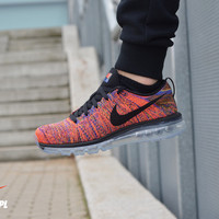 Men's Nike Flyknit Air Max Running Shoes 'Black Multi Color' (Tmall ORIGINAL)