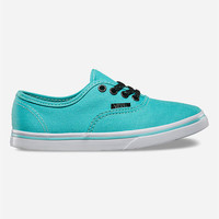 Vans Glitter Eyelets Authentic Lo Pro Girls Shoes Aqua  In Sizes