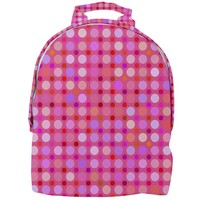 Pink And Purple Dots Mini Full Print Backpack