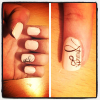 Strength and Infinity Nail Decals by PaipurNails on Etsy