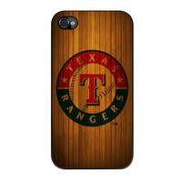 Texas Rangers Wood Pattern iPhone 4 Case
