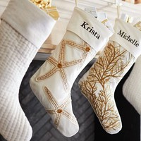 COASTAL APPLIQUE STOCKINGS