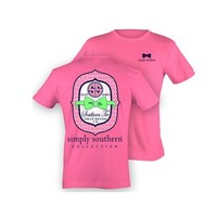 Simply Southern Southern Tie Pink T-Shirt   Palmetto Moon