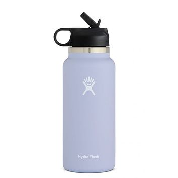 32 oz Wide Mouth with Straw Lid Hydro Flask - Fog