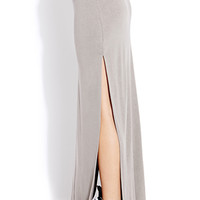 FOREVER 21 Fold-Over M-Slit Maxi Skirt