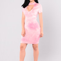Explosion Of Emotions Dress - Pink