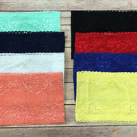 Lace Bandeau: Multiple Colors
