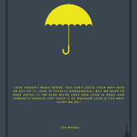 How I Met Your Mother - Yellow Umbrella Art Print by Creation Factory | Society6