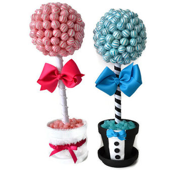 Lollipop Wedding Centerpieces, Bride and Groom Topiaries, Candy Topiaries, Lollipop topiary, Lollipop Centerpiece, Candy Centerpiece, Custo