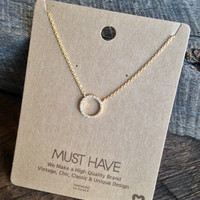 """Circle """"Must Have"""" Necklace"""