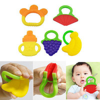 1 Pcs Glister Baby Kid Infant Safety Teeth Stick Teether Rear Molar Silicone