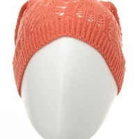 Pointelle Open Knit Beanie by Charlotte Russe