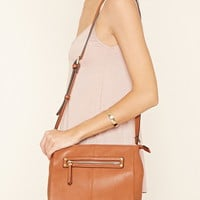 Faux Leather Structured Satchel