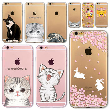 Happy Cat For Apple iPhone  6 6S  5 5S SE 6Plus 6sPlus 5C 4 4S