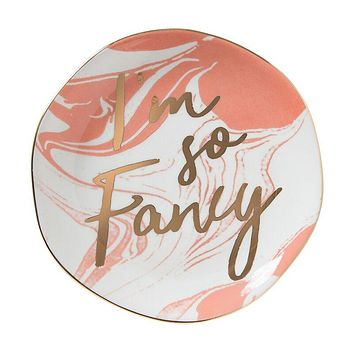 """I'm So Fancy Round Trinket Tray 