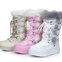 Girls' Winter Boots warm snow waterproof