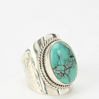 Urban Outfitters - Adorn By Sarah Lewis Turquoise Flower Ring