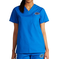Florida Gators NCAA 1-Pocket MedFlex II Scrub Top (Royalty Blue)