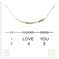 NecklaceI Love You 143 - Silver