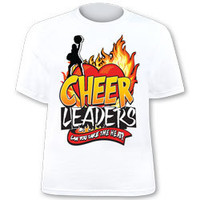 Cheer Leaders, Can You Take The Heat? Printed Jersey T-Shirt